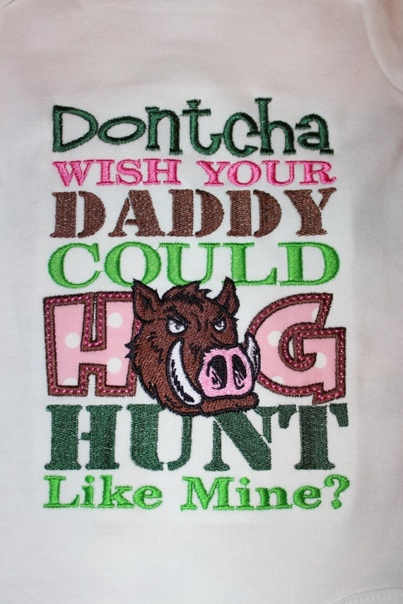 Hog Hunting Mommy or Daddy shirt or onesie by stephstowell on Etsy, $23.00