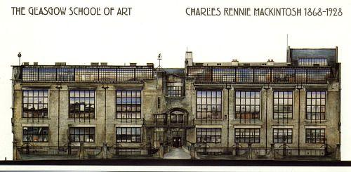 Glasgow School Of Art, Scotland (1909) - Charles Rennie Mackintosh / Painting by…