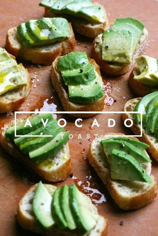 Avocado toast: Slice and toast a thick, good-quality piece of bread, drizzle it with a bit of olive oil, and smash half an avocado on top. Sprinkle with salt and pepper. Devour.