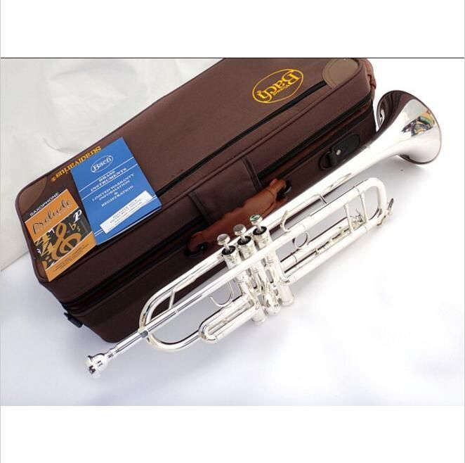 [Visit to Buy] DHL,UPS FREE Senior Bach Silver Plated Bach Trumpet LT180S-43 Small Brass Musical Instrument Trompeta Professional High Grade. #Advertisement