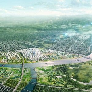 ADEPT plans looping masterplan  for Chinese city district