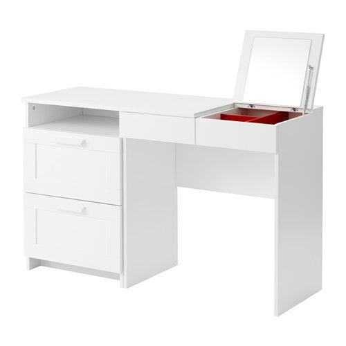IKEA - BRIMNES, Toalettbord och byrå med 2 lådor. Detta skulle kunna fungera både som sminkbord och skrivbord, 2i1 typ