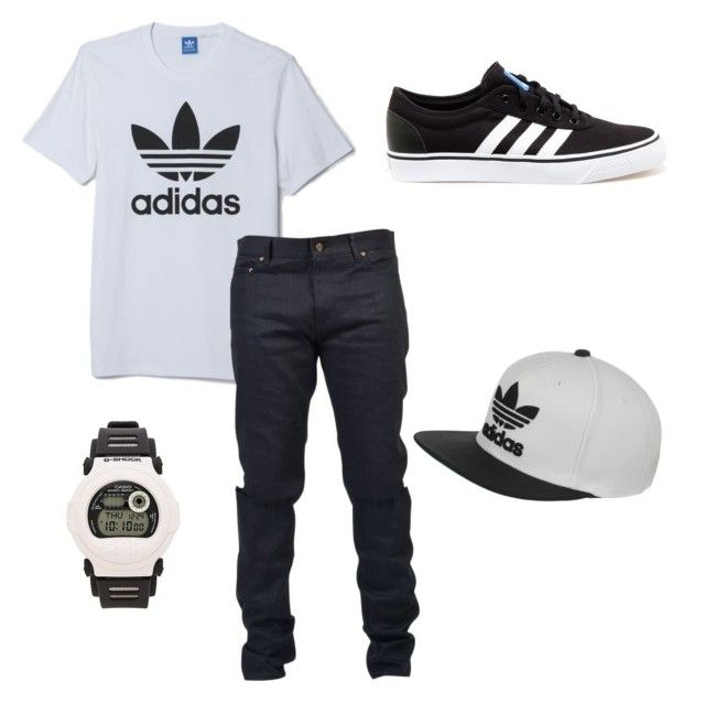 """""""Adidas"""" by anissa-c on Polyvore featuring adidas, Yves Saint Laurent and G-Shock"""