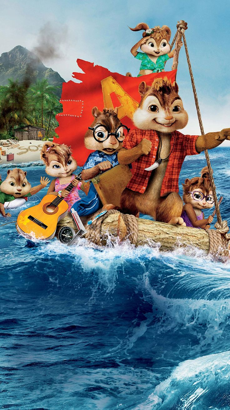 Alvin And The Chipmunks Chipwrecked 2011 Phone Wallpaper Moviemania Alvin And The Chipmunks Alvin And Chipmunks Movie Chipmunks
