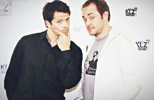 Misha Collins and Mark Sheppard