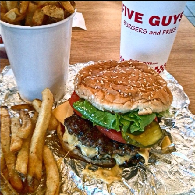Five Guys Burgers and Fries. Best hamburgers EVER!