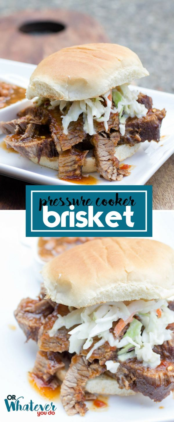 This pressure cooker beef brisket is almost ALL hands-off time, besides a quick sear in the beginning, and comes out of the cooker so tender and flavorful.