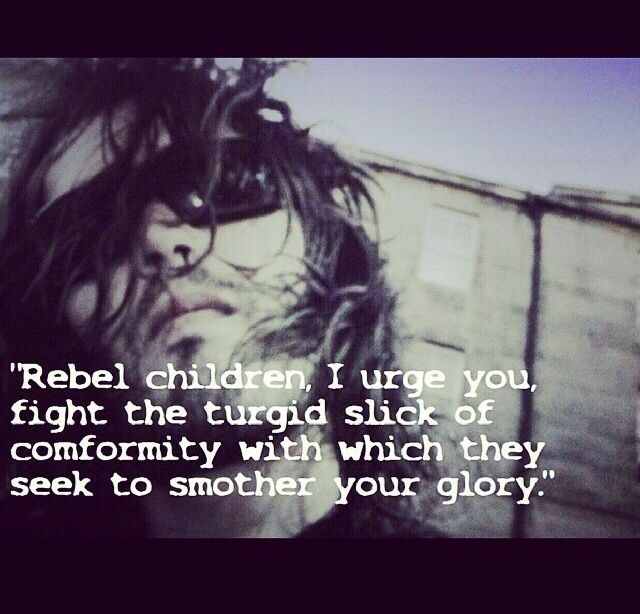 Russell Brand.    don't let conformity  smother your glory!