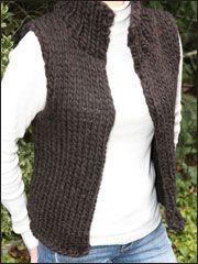 Vest Knitting Patterns - Super Bulky Winter Vest