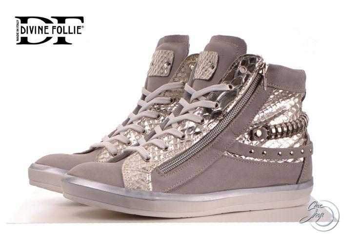 Divine Follie Silver/grey Božské tenisky http://www.chicshop.cz/obuv/tenisky-sneakers/damske-stribrne-tenisky-divine-follie