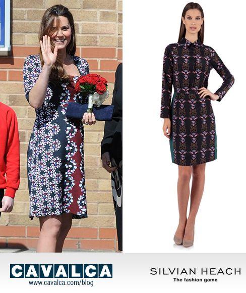 Mi vesto come...Kate Middleton con l'abito chemisier in fantasia floreale Silvian Heach #kate #silvianheach #cavalca http://www.cavalca.com/blog-moda/mi-vesto-come-kate-middleton/