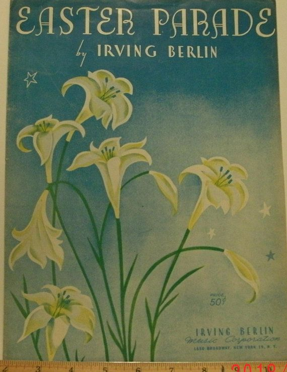 Irving Christmas Parade 2020 Easter Parade sheet music by Irving Berlin 1933 good shape | Etsy