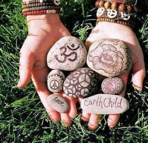 I plan on doing this! #hippy #DIY #rocks #art #craft #artsy #love #indie #spiritual