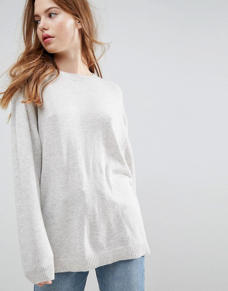 Relaxed Oversized Jumper - H grey Hazel Cheap From China mRtJtAe6FQ