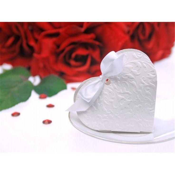 Hjerte-esker til bryllup - med et lekkert preget mønster - disse anbefales!