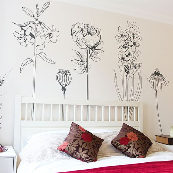 Large decorative vinyl flower wall sticker by Vinylimpression
