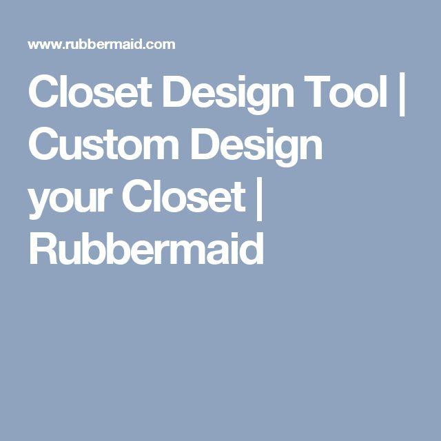 Closet Design Tool | Custom Design your Closet | Rubbermaid