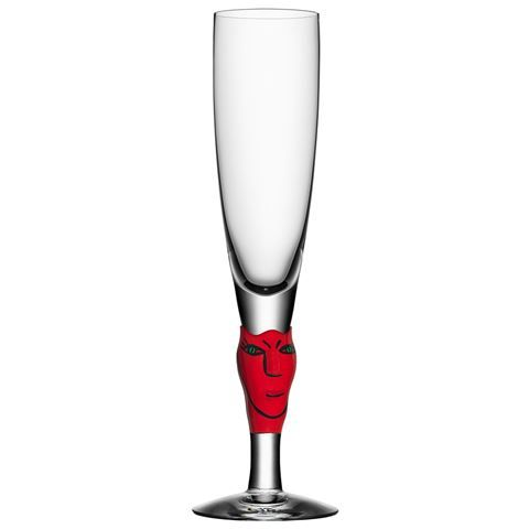 Kosta Boda - Open Minds Red Champagne Flute