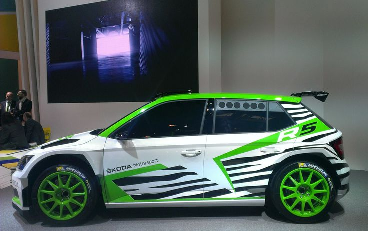 """""""The world premiere of the Fabia #R5 Concept Car gives an insight into the future of rallying at ŠKODA,"""" said ŠKODA Motorsport Director Michal Hrabánek."""