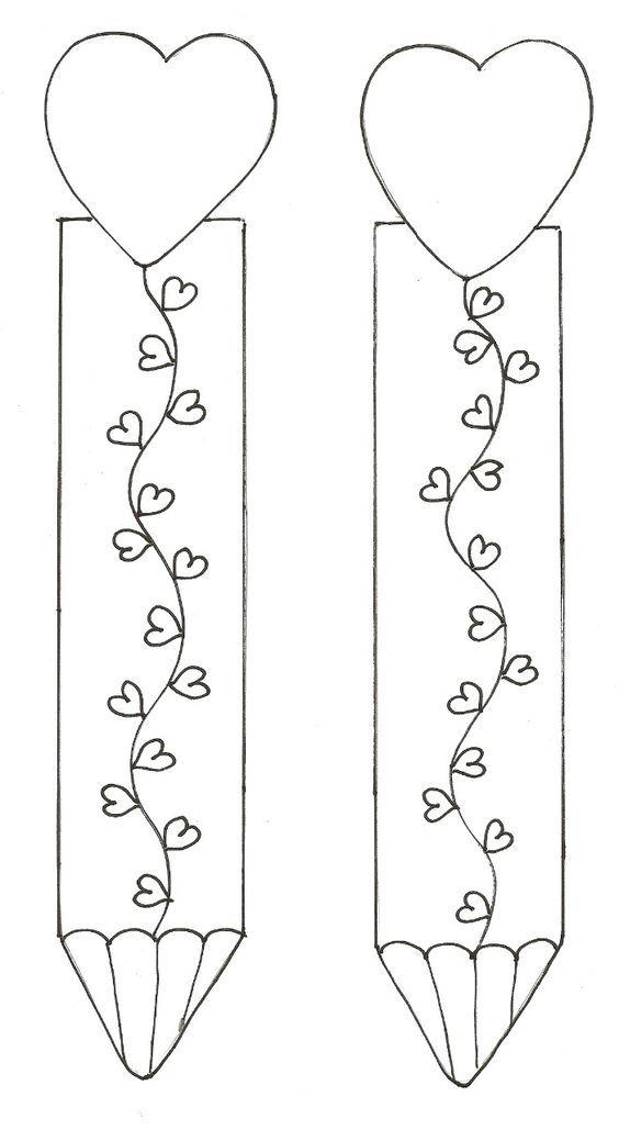 Resultado de imagen para separadores para libros para el dia de san valentín para iluminar