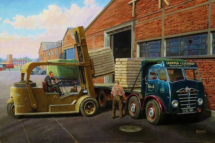 commission A Painting Painting - Reed Paper Foden Fg by Mike Jeffries