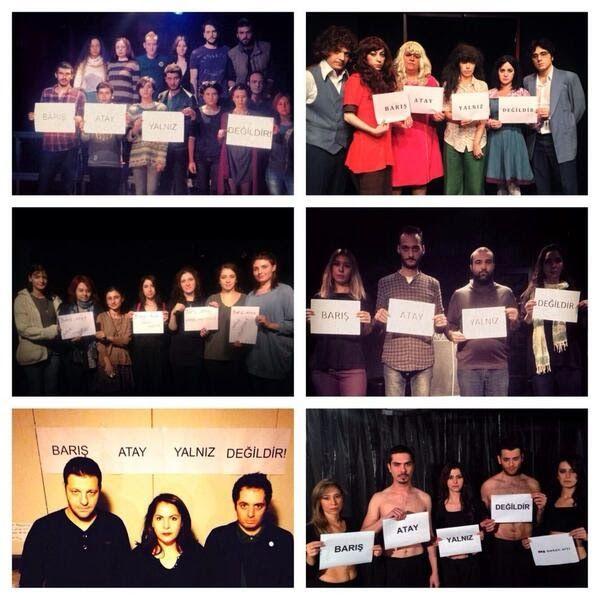 """Tiyatroculardan Barış Atay'a Destek: """"Barış Atay Yalnız Değildir"""" http://www.baskahaber.org/2013/11/tiyatroculardan-bars-ataya-destek-bars.html"""