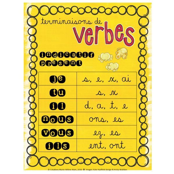 Terminaisons de verbes