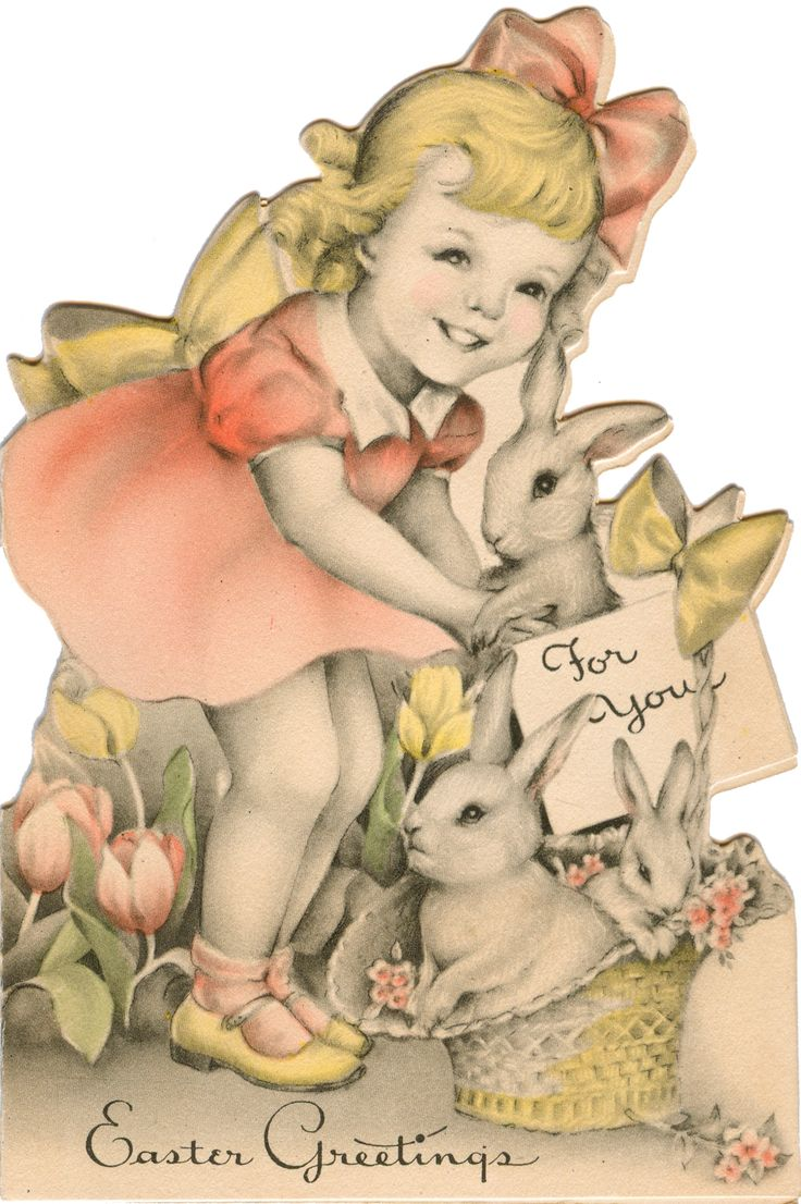 1936 - Easter card (similar to card on page 22 of The Very Best from Hallmark: Greeting Cards Through the Years by Ellen Stern)