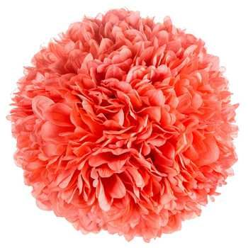 Coral Hanging Mum Ball