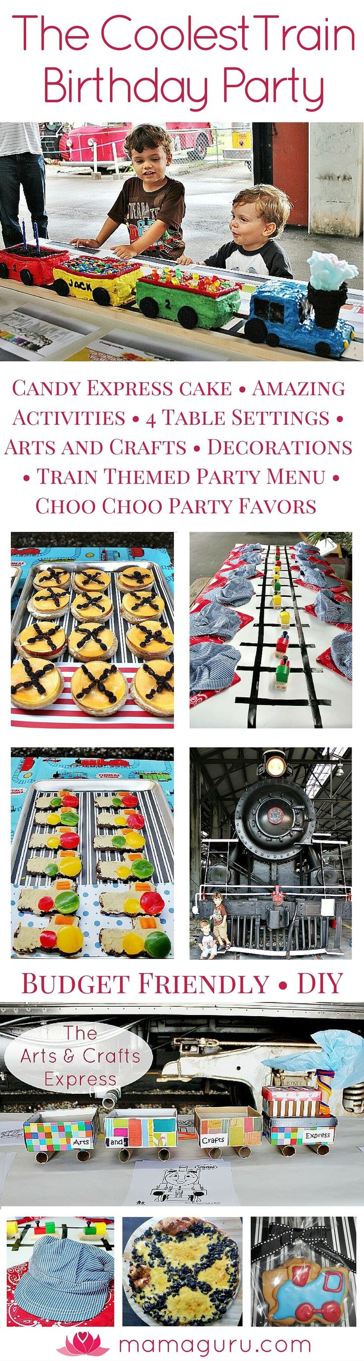 Train Birthday Party • Children's Birthday Party Ideas • Boy Birthday Party • Train Cake