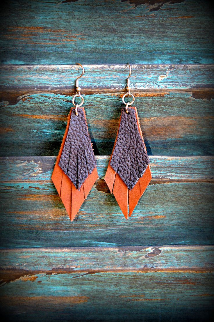Handmade Leather Earrings from Thailand #73 · Purchase Effect · Online Store Powered by Storenvy