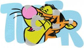 Free Embroidery Design: Big Tigger - I Sew Free