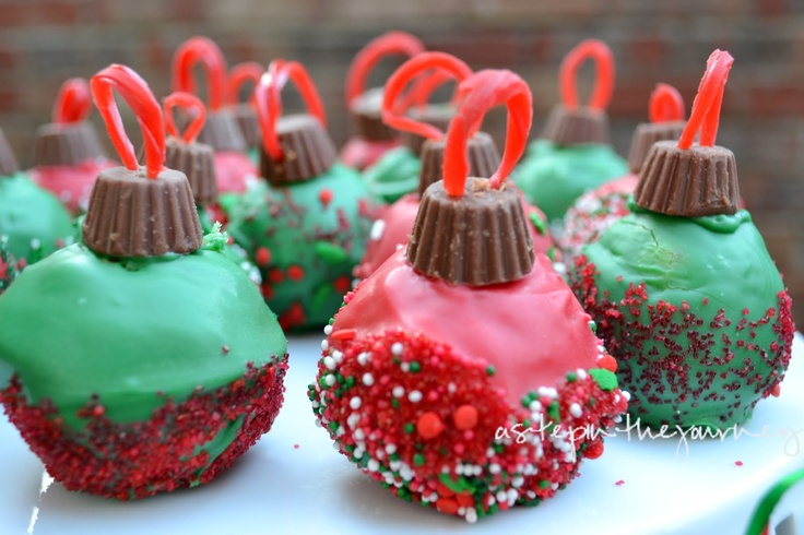 Christmas treats- Ornament Cake Balls.