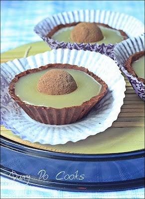 Salted Caramel Chocolate Tart with Coffee Truffles