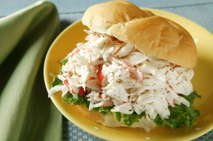 Quick and Easy Crab Salad Sandwich | AmazingSeafoodRecipes