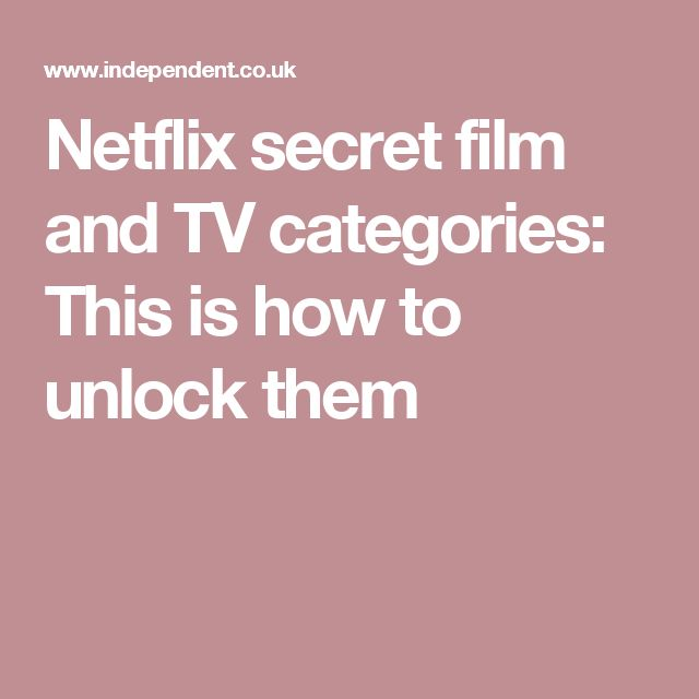 Netflix secret film and TV categories: This is how to unlock them