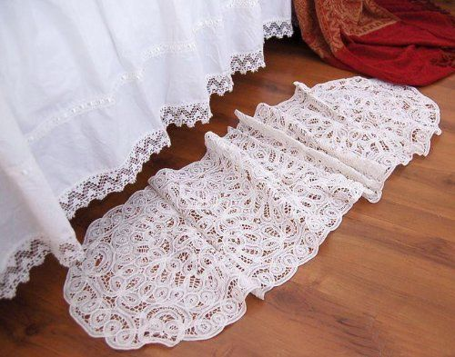 Vintage Handmade Butterburg White Cotton Table Runner By Victoriau0027s Deco,  Http://www