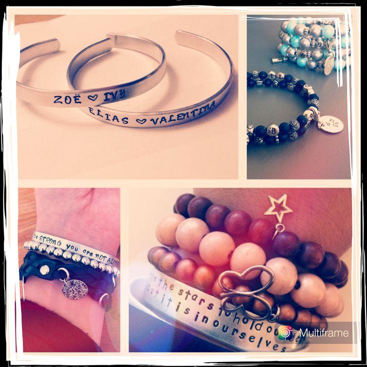 Idee voor de naderende feestdagen?!  Handgemaakte en gepersonaliseerde sieraden met snelle levertijd. Wij werken op wens! ❤️