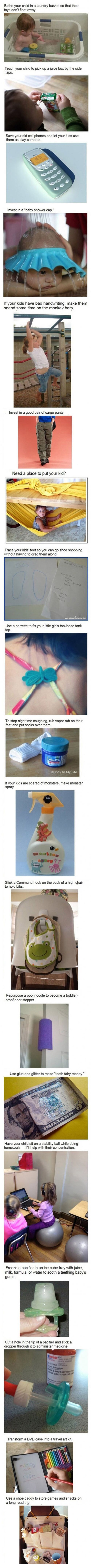 I don't have kids, but these all seem like cool ideas