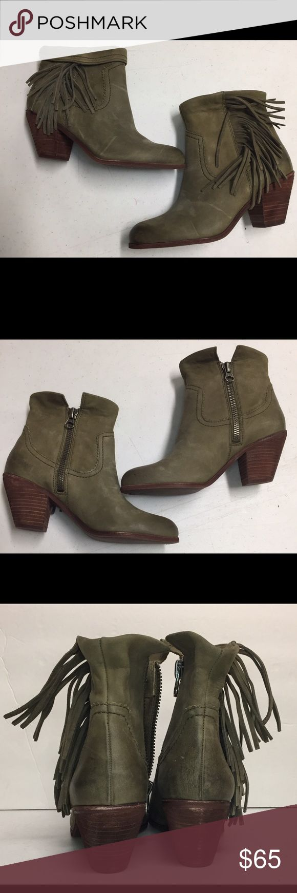 Sam Edelman Louie Fringe Booties Size 8.5 Sam Edelman Louie Fringe Booties Size 8.5. Gently used with minor scuffing see photos. Sam Edelman Shoes Ankle Boots & Booties