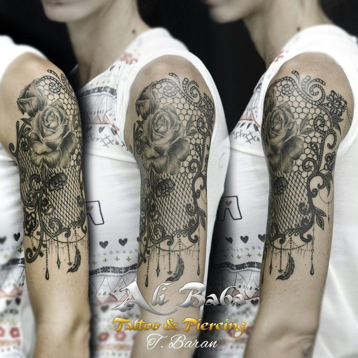 Bodrum tattoo bodrum dovme dövme body art lace tattoo dantel dövmesi gül dövmesi rose tattoo ali baba tattoo turan baran arm tattoo
