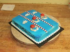Swim Race By Amandau0027s Caketastic Creations, Via Flickr · Swim CakeSwimming  Pool ...