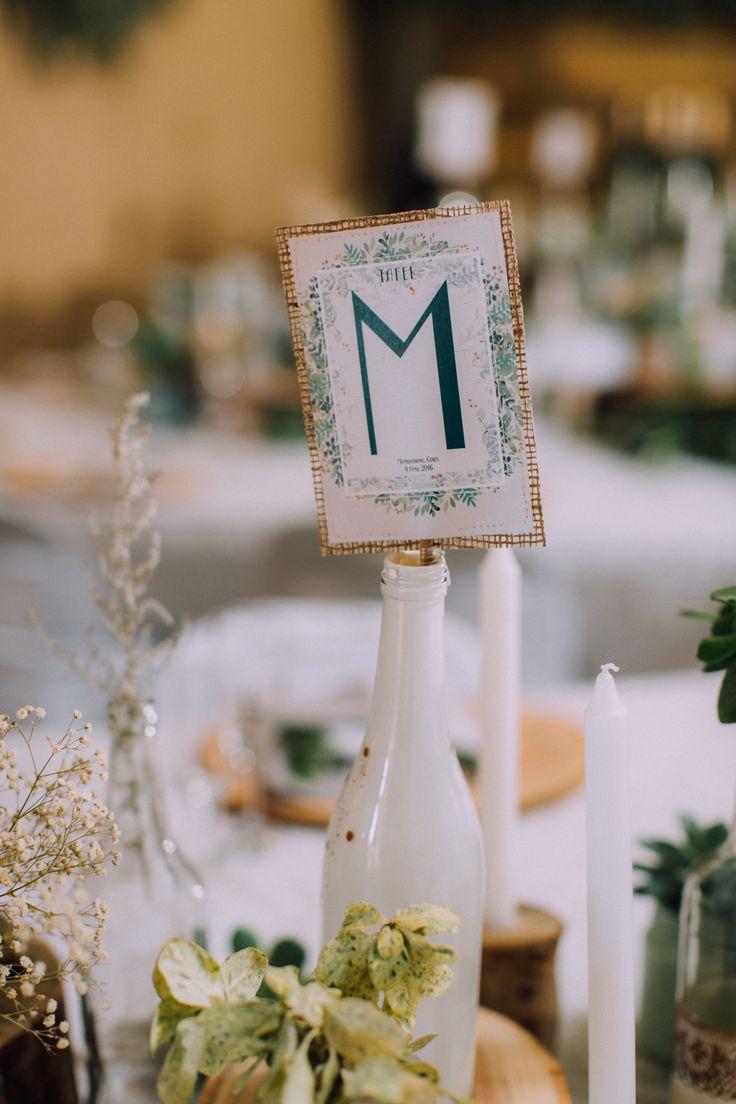 Table name. DIY wedding.