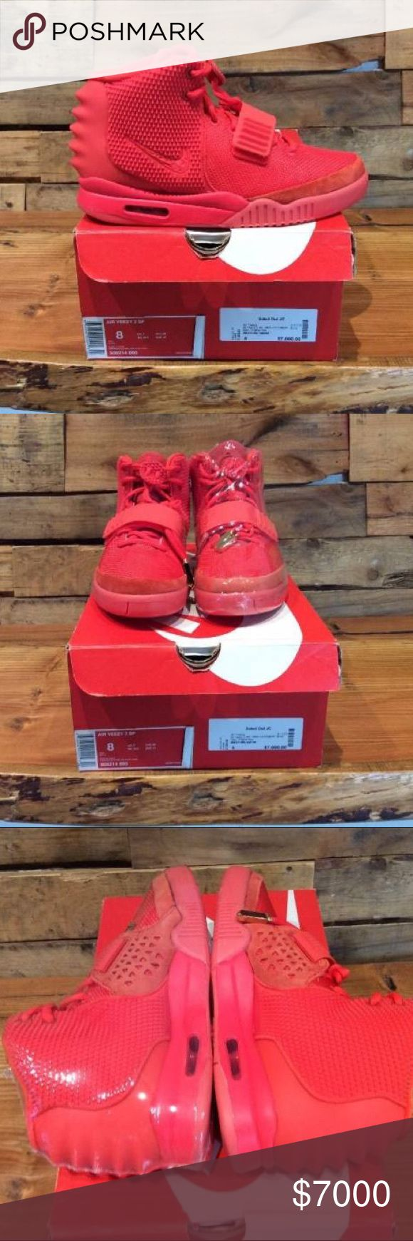 "Nike Air Yeezy 2 SP ""Red October"" 100% authentic ships 1-2 days Via FedEx Express Yeezy Shoes Athletic Shoes"
