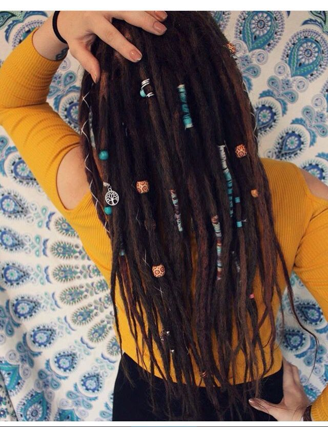 Literally my dream hair. Beads and everything