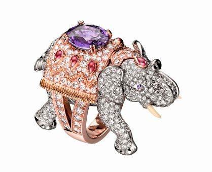 Кольцо в виде слона