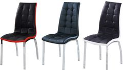 Dining chairs Faux Leather with Foam Padded chrome frame Furniture Sales