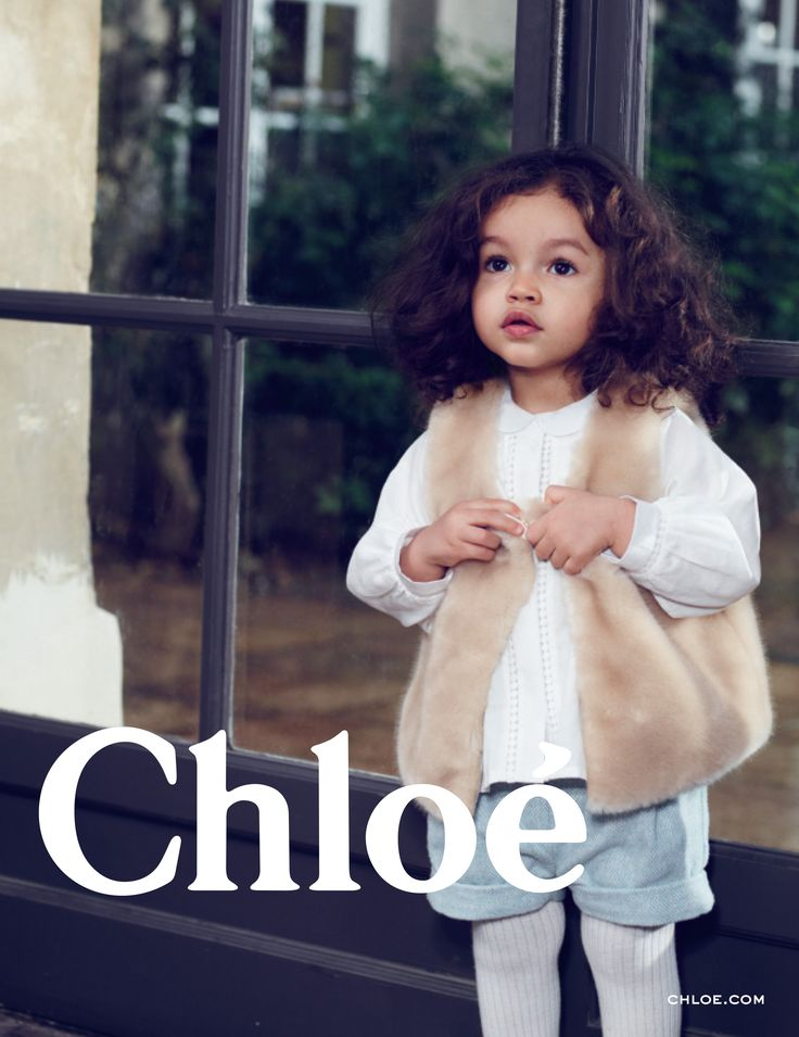Little Chloé girls can cosy up in fluffy gilets this season