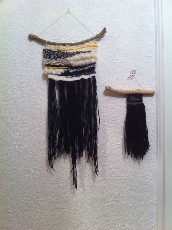Wallhanging : Black & white weaving made in France