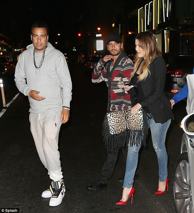 Meeting the family: Rapper French Montana has been getting to know the rest of the Kardashian clan. Khloe Kardashian Seen here in New York on Sunday after they met Scott Disick and Kourtney (not pictured) for dinner